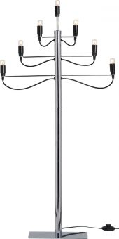 Adventsljusstake Milano golv krom 120cm