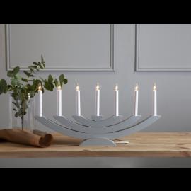 Navida ljusstake grå i trä 60cm