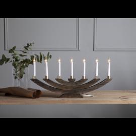 Navida ljusstake betsad brun i trä 60cm