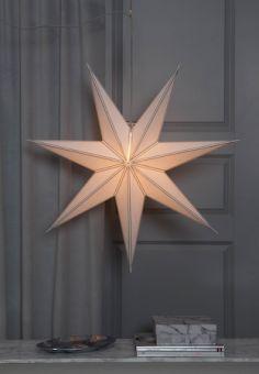 Pappersstjärna Nicolas vit/guld 80cm
