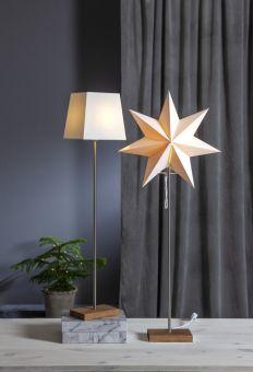 Moa bordsstjärna med extra lampskärm ek 82cm
