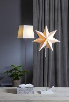 Moa bordsstjärna med extra lampskärm vit 82cm