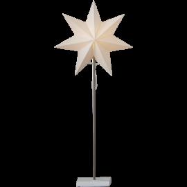 Totto Adventsstjärna på fot vit 80cm Star Trading