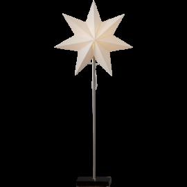 Totto Adventsstjärna på fot svart 80cm Star Trading