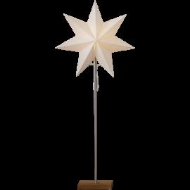 Totto Adventsstjärna på fot ek 80cm Star Trading