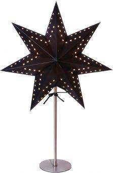 Bobo pappersstjärna på fot, svart 51cm