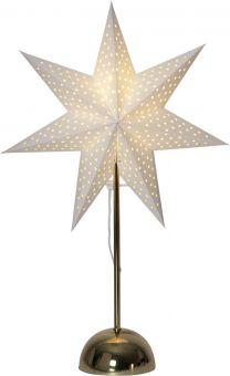 Lottie Adventsstjärna på fot mässing 55cm