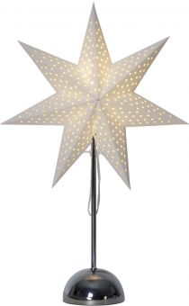 Lottie Adventsstjärna på fot krom 55cm