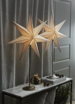 Adventsstjärna på fot Nicolas vit 88cm