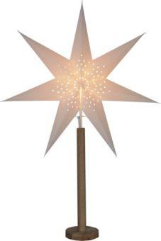 Adventsstjärna på fot Elice ek/vit Star Trading