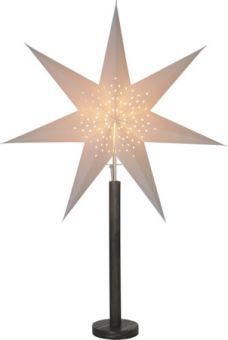 Adventsstjärna på fot Elice brun/vit Star Trading