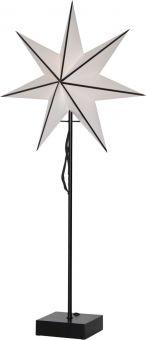 Astro Adventsstjärna på fot svart 74cm