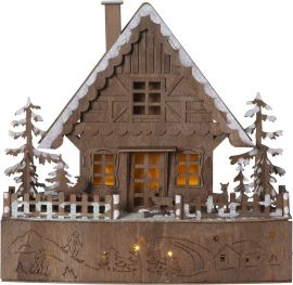 Adventsljusstake Trier Lazercut trä 30cm