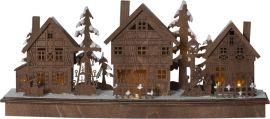Adventsljusstake Mainz Lazercut trä 45cm