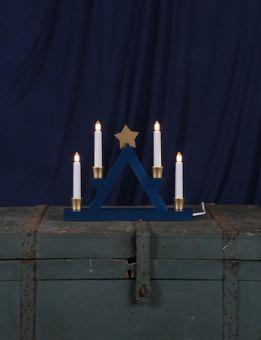 Elljusstake Julle trä blå 26cm