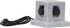 Förgreningsbox Plugge 4 uttag IP44 grå