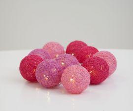 Jolly Light Ljusslinga dekoration rosa bollar 135cm