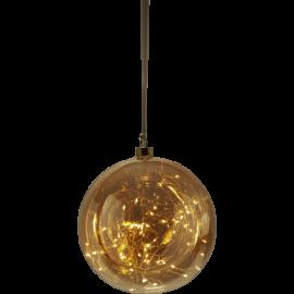 Star Trading Glaskula Glow 80 LED Bärnstensfärgad