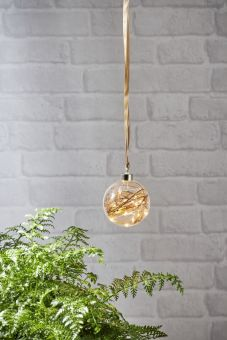Glow Glasdekoration kula klart glas 10cm