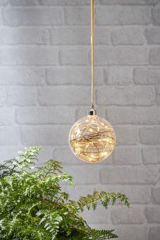 Glow Glasdekoration kula klart glas 15cm