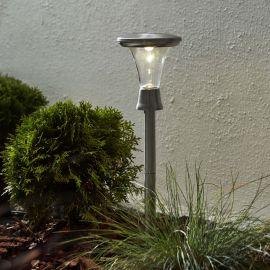 Turin gångljus solcell stål 2 st
