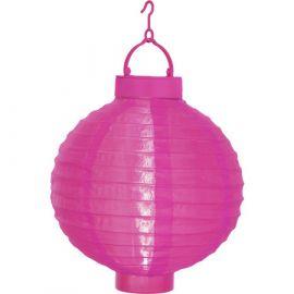 Solcellslampa risboll rosa 20cm