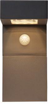 Vici Solcells-vägglykta svart 20cm