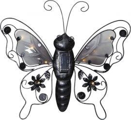 Solcellsdekoration Butterfly svart 39cm