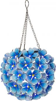 Solcellsdekoration Hortensia blå 16cm