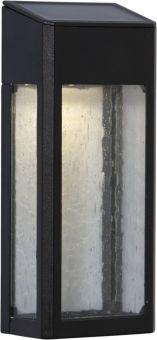 Star Trading Solcells-vägglykta Wally svart 20cm