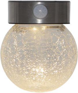 Star Trading Solcells-vägglykta Glory rostfri stål 14,5cm