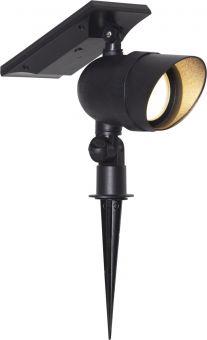 Star Trading Markspotlight Solcell Powerspot svart 21cm