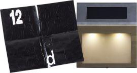 Wally Solcells-vägglykta silver 20cm
