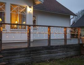 Istappsslinga Serie LED Golden Warm White 12m