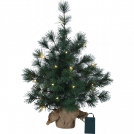 Furu dekorationsträd/plastgran 20LED 60cm