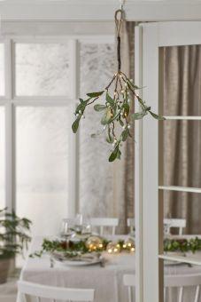 Mistel dekorationskvist 10 LED 35cm