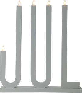 JUL Elljusstake trä grå 48cm