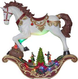 Panorama Swing Häst vit 45cm