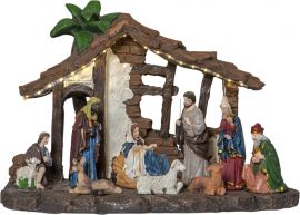 Panorama Nativity brun 37cm