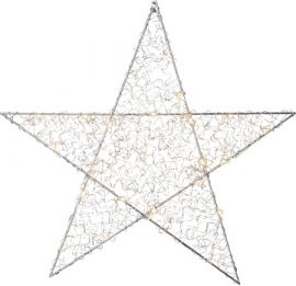 Fönsterstjärna Loop silver 45cm
