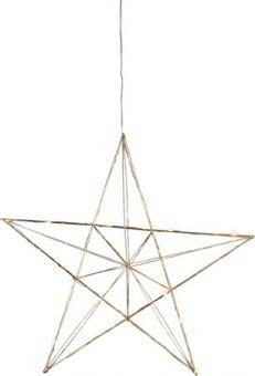 Line adventsstjärna inomhus mässing 38cm