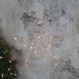 Line adventsstjärna inomhus koppar 38cm