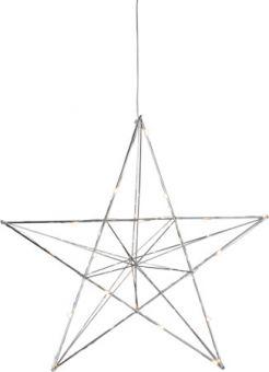 Line adventsstjärna inomhus krom 38cm