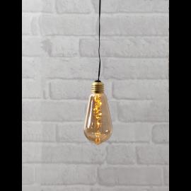 Star Trading Glow hängande dekoration Amber 13cm