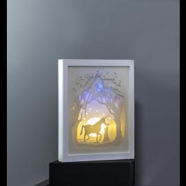 Star Trading Scenery lysande tavla enhörning LED