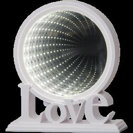 Star Trading Spegel Love MirrorLight LED vit 21cm
