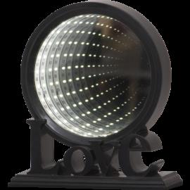 Star Trading Spegel Love MirrorLight LED svart 21cm