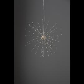 Star Trading Firework hängade dekoration varmvit 45cm