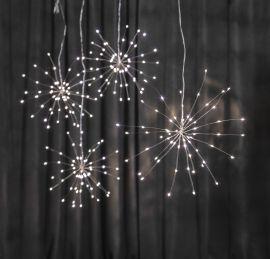 Firework Hängande dekoration LED silver 26cm