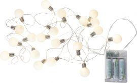 Ljusslinga Mini Glow silver 3m